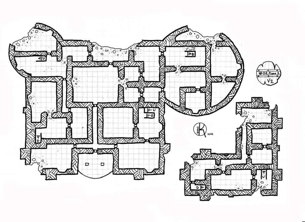 Heavy damaged castle floor 2 kosmic dungeon for Floor 2 dungeon map