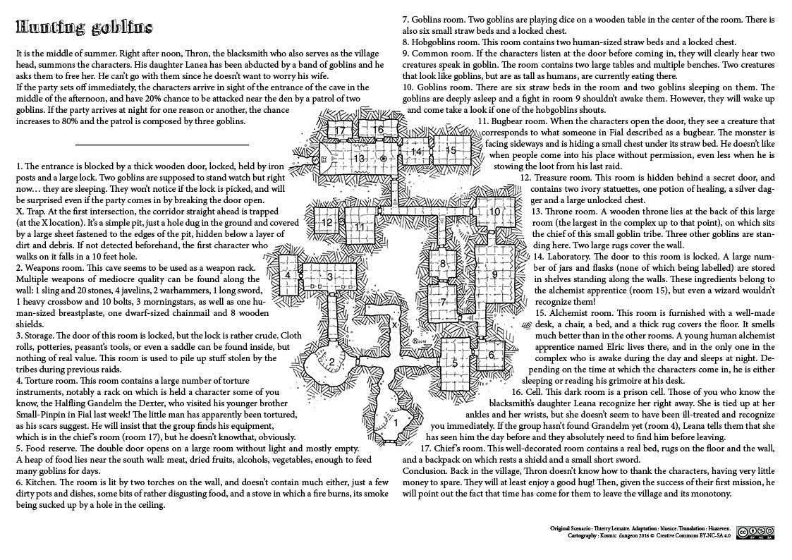 Haunt for Gobs ,one page dungeon - Kosmic Dungeon